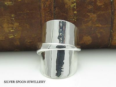 Demitasse Solid Sterling Silver Spoon Ring Dated 1921 -Size I