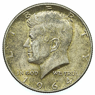 United States, Kennedy Half-Dollar, Jfk, Silver, Usa, 1964