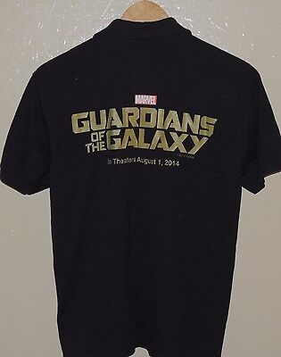 Guardians Of The Galaxy Shirt Cinemark Employee Exclusive Marvel Polo Size Small