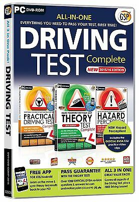 All in One Driving Test Complete 2016 Hazard Theory & Practical PC DVD ROM