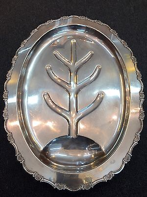 MY FINEST K. UYEDA 950 STERLING SILVER SERVING TREE PLATTER TRAY 64OZ Ounce