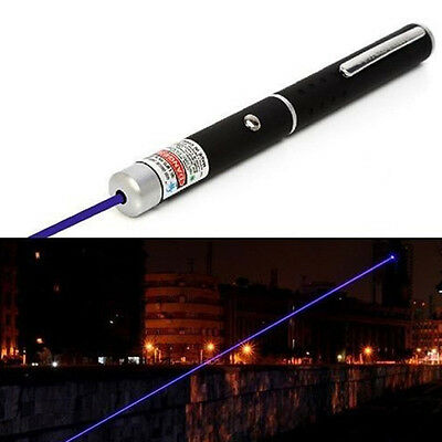 New Hot 405nm Powerful Visible Light Beam Blue Focus Laser Pointer Pen Torch