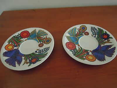 Vintage Villeroy & Boch ACAPULCO Large Saucers X TWO