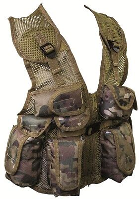 KIDS CAMO ASSAULT VEST combat army childs ONE SIZE paint ball soldier