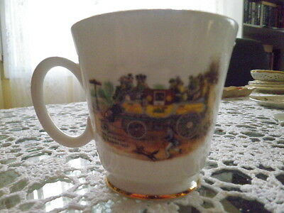Royal Grafton Bone China Cup - Steam Coach By Gurney 1827 – Made In England