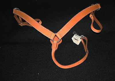 Leather Breastcollar Harness Leather - Shaped Doubled & Stitched - IMP USA - NEW