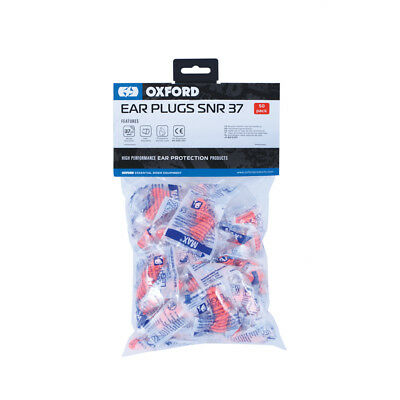 Oxford Max 50 Ear Plugs OF539 Motorcycle Motorbike 50 Pairs Pack BC29986 T