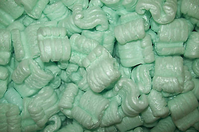 Packing Peanuts Loose Fill Anti Static Green 40 Cubic Feet/300 Gallons Brand New