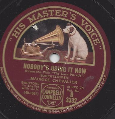 Maurice Chevalier singt  : My Love Parade + Nobody´s using it Now