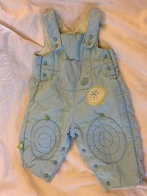 Baby Boy Quilted Pram Suit Dungarees, 6months