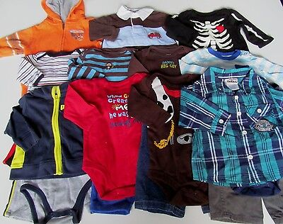 Used 21 Pc. Lot Of Baby Boy Clothes 3-6 Months Euc/vguc
