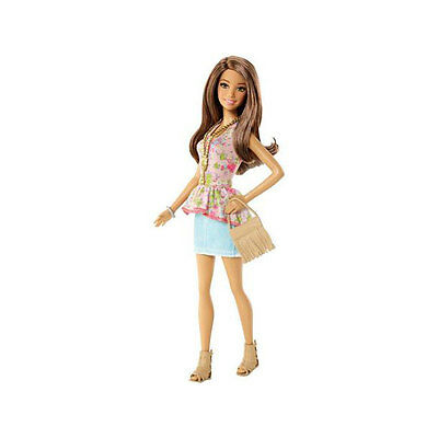 Barbie Fashionistas Theresa Doll, Flower Top and Jean Dress CFG14