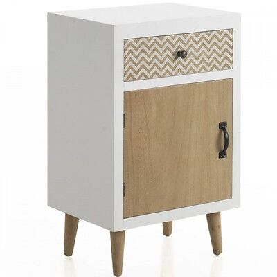 Vintage Bedside Table White Night Lamp Stand Retro Side Cabinet Bedroom Tables