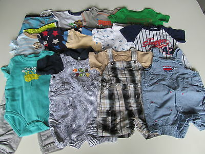 Used 20 Pc. Lot Of Baby Boy Clothes 6-9 Months Euc/vguc