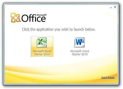 Microsoft Office 2010 Starter [Word 2010 & Excel 2010] For Windows + 8Gb Usb