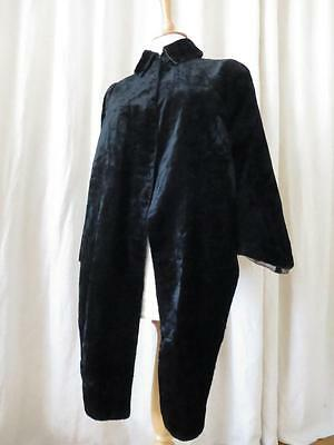 Antique Late Victorian Black Silk Velvet Capelet
