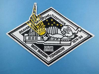 Boy Scouts Scouts Canada Beaver Skydome Sleepover  Patch 1974-94 Collector Badge