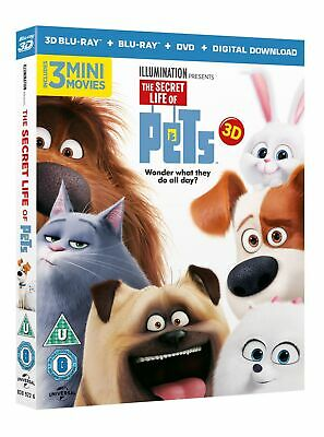 The Secret Life of Pets (3D Edition + 2D Edition + DVD + Digital Copy) [Blu-ray]