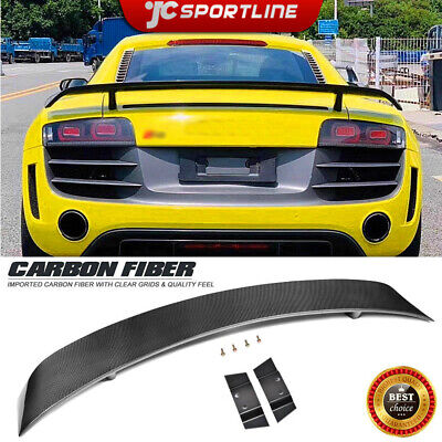 For 08-15 Audi R8 V8 V10 Rear Trunk Lid Boot Spoiler Wing Lip Carbon Fiber Refit