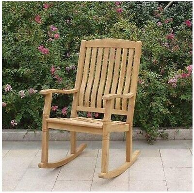 Brilliant Large Solid Teak Rocking Chair Outdoor Porch Garden Patio Gmtry Best Dining Table And Chair Ideas Images Gmtryco