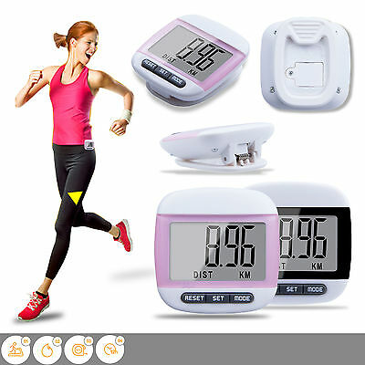 LCD Digital Step Pedometer Walking Calorie Counter Distance Run Belt Clip New