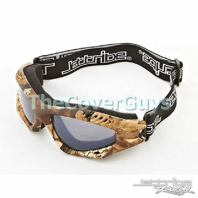 Jettribe Jet Ski Expert Series PWC Woods Camo Frame / Smoke Lens Riding Goggles