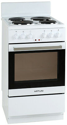 NEW Artusi AFE504W Freestanding Electric Oven/Stove