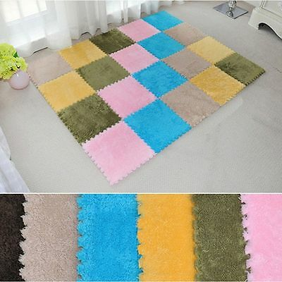 Soft Splice Living Room Bed Room Puzzle Mat Door Floor Carpet For Kids Children