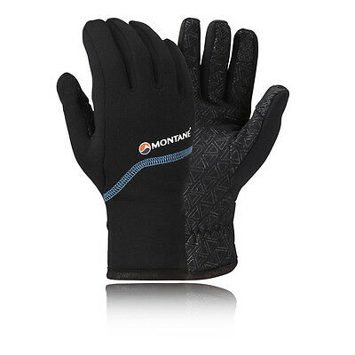 Montane Powerstretch Pro Grippy Mens Black Outdoors Walking Gloves Mittens