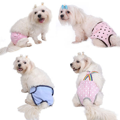 Female Pet Dog Puppy Underwear Diapers Pants Physiological Sanitary Short Panty