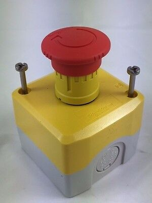 Schneider Harmony XALK178E Red Yellow emergency stop Complete Push Button Box