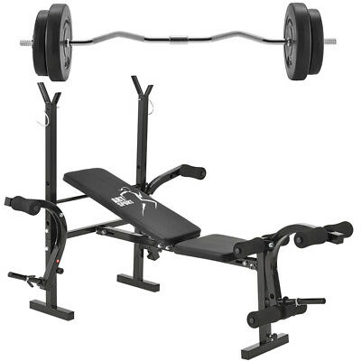 30 KG Hantelbank Curlhantel Trainingsbank Hantelset Kraftstation Fitness Bank