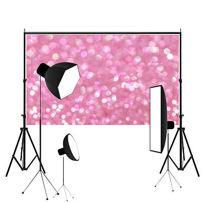7X5FT Pink Sequin Glitter Romantic Photography Background Photo Backdrop Props