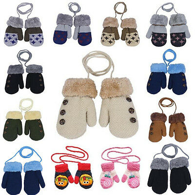 Newborn Child Stretchy Knitted Mittens  Baby Kids Winter Warm Gloves Girls Boys