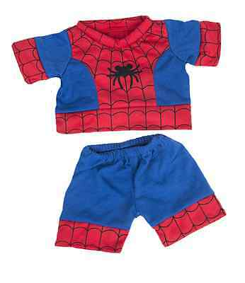 "Spiderman PJS outfit / clothes to fit 16"" build a bear factory bears"