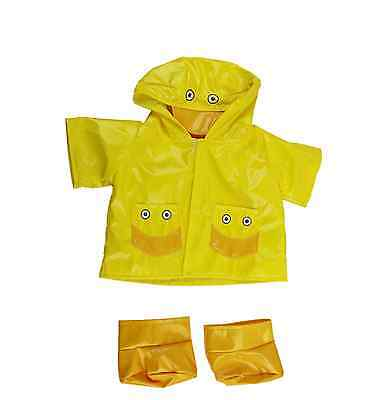 "Yellow Duck Raincoat outfit/clothes to fit 15""/16"" build a bear factory"