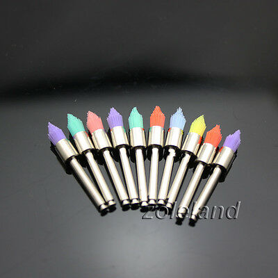 100 PCS Mixed Color Dental Prophy Brush Polishing Polisher Nylon Latch Taperd