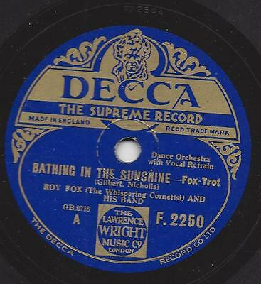 Roy Fox Orchester mit Al Bowlly : Bathing in the sunshine + That Lindy Hop