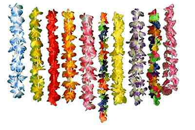 Flower Silk Leis Tropical Hawaiian Luau Style Pack of 50 Party Favors 36 Inches