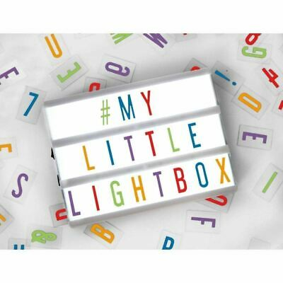 A5 Size Cinematic Cinema Lightbox with 85 Colour Letters, Numbers & Symbols