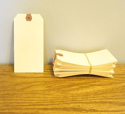 """150 Avery Dennison Manilla #6 Blank Shipping Tags 5 1/4"""" By 2 5/8"""" Scrapbook"""