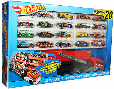 Hot Wheels Turbo Hauler Wagon Includes 20 HotWheels Toy Cars Brand New