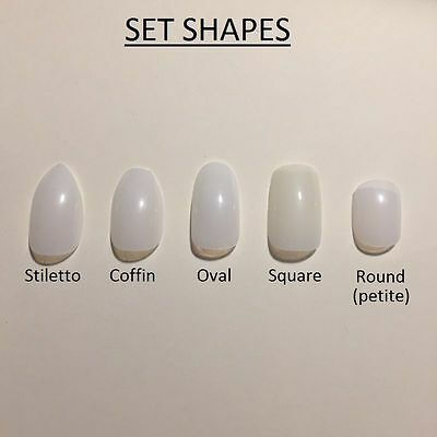 Paint Your Own False Nails. STILETTO (Or ANY SHAPE). Full Cover. Natural. UK