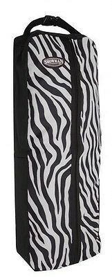 Showman Nylon Bridle Halter Bag Full Zipper ZEBRA Print New Horse Tack