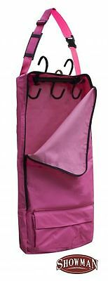 Showman Pink Cordura Bridle/Show Halter Bag / Mini Harness w/Swivel Hook