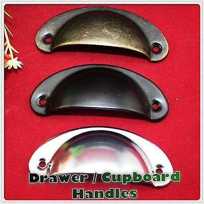 Kitchen Cupboard Door Cabinet Cup Drawer Furniture Antique Pull Shell Handle