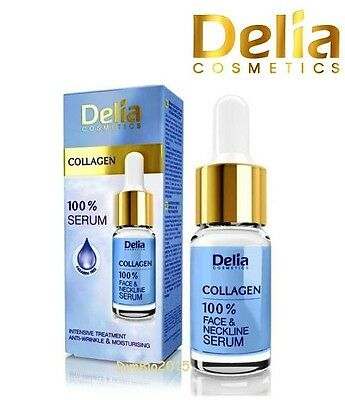 Collagen 100% Anti Wrinkle Serum for Face Neck and Decollete DELIA