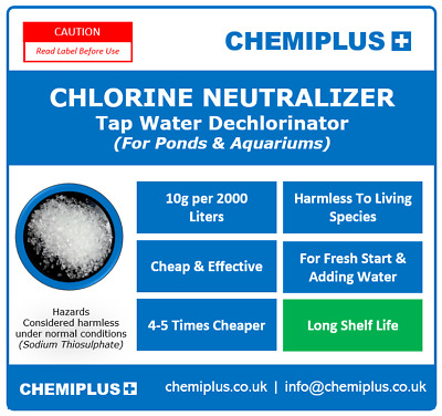 80g Tap Water Dechlorinator Safe Water Aquarium / Pond Cheap Effective Crystals