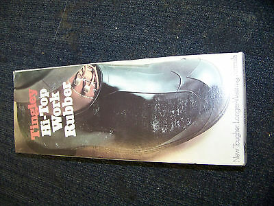 Tingley Hi-Top Work Rubber Overshoes Giant size 13-15 Black Stock # 1300 New