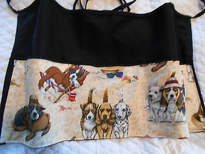 New Server 3 Pocket Waitress Waist Apron Dog Sun W/WO Name Dog Trainer Walker